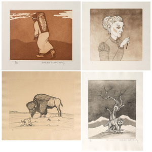 Natachee Scott Momaday (Cherokee, 1913-1996) Lithographs on Paper