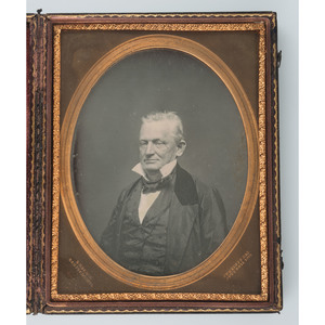 Half Plate Daguerreotype Portrait of an Aged Gentleman by R.H. Vance, San Francisco