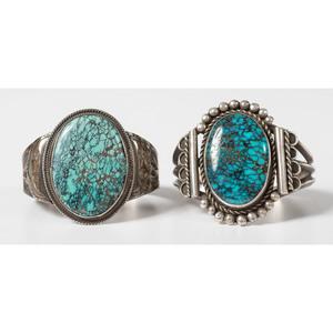 Leo Coriz (Kewa, 1913/1914-1997) Silver and Turquoise Cuff Bracelet PLUS