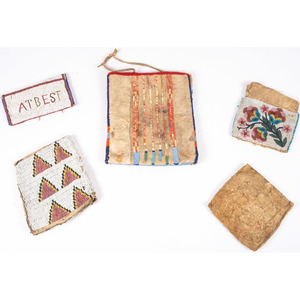 Collection of Plains Beaded Hide Bags