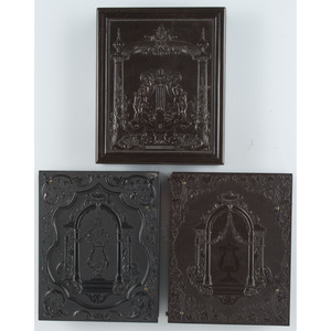 Trio of Quarter Plate Lyre in the Portal Union Cases, Including Two Very Rare Examples