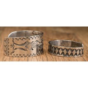 Navajo Stamped Ingot Cuff Bracelets