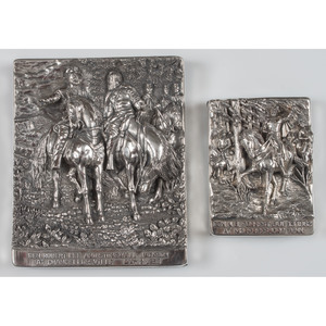Henryk Winograd, Sterling Silver Repousse Panels Featuring Confederate Generals Lee, Jackson, and Forrest