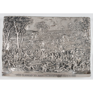 Henryk Winograd, Battle of Cold Harbor Sterling Silver Repousse Panel