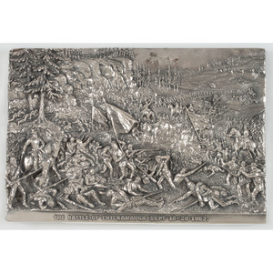 Henryk Winograd, Battle of Chickamauga Sterling Silver Repousse Panel