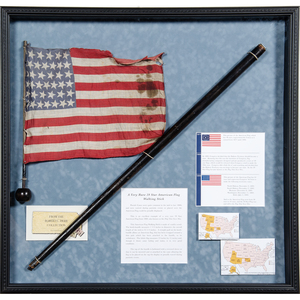 39-Star Parade Flag and Cane