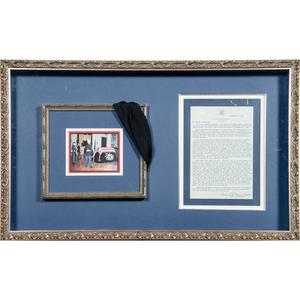 John F. Kennedy, Black Cambric Funerary Relic, Plus