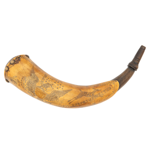 Engraved Tansel Powder Horn Presented By D.M. Dobson To James W. Dobson