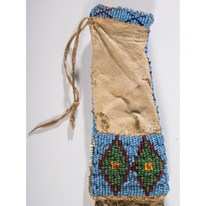 Northern Plains Miniature Beaded Hide Tobacco Bag