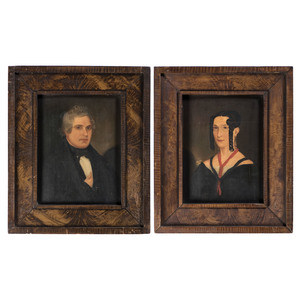 An American Pair of Portraits, 19th Century