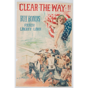 World War I, Clear the Way!! Buy Bonds Poster by Christy