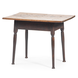 A Federal Scrubbed Top Turned Cherrywood Tavern Table