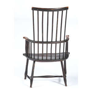 A Painted Windsor Comb-Back Armchair