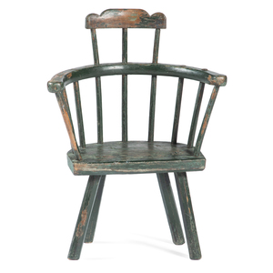 A Painted Child's Comb-Back Windsor Chair