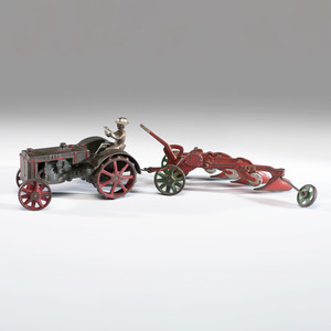 A Vindex Cast Iron Case Plow and Tractor