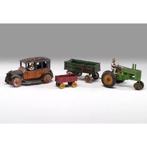 Three Cast Iron Arcade Toys