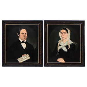 A Pair of Ohio Portraits by J. Woodruff, 19th Century