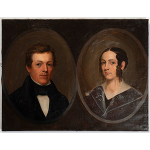 An American Double Portrait, 19th Century
