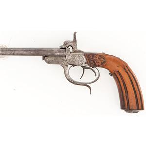 Double Barrel Pinfire Pistol
