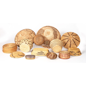 Group of Native American Baskets, PLUS