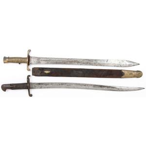 Lot of Two Saber Bayonets