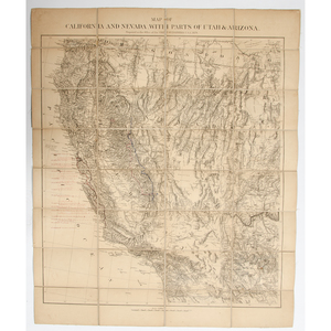 Map Of California and Nevada, US War Department, Chief of Engineers, 1879, with Period Inscriptions