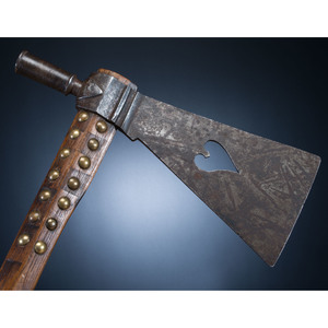 Western Plains Pipe Tomahawk, with Heart Cutout