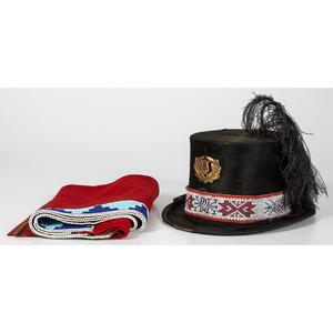Osage Loom Beaded Top Hat AND Beaded Wool Leggings