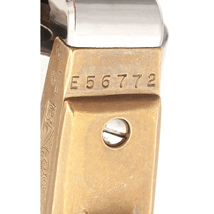 Engraved Reproduction Brass Frame Navy Revolver