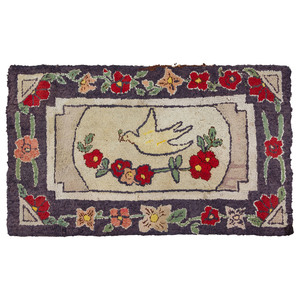 An American Dove of Peace Hooked Rug