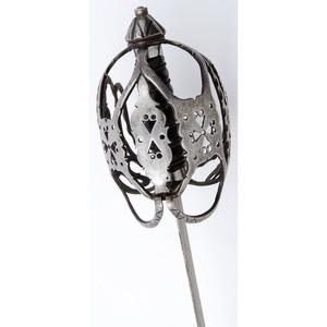 A Good Composite Scottish Basket-Hilted Broadsword with 18 Century Hilt