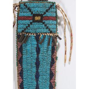 Sioux Beaded Hide Knife Sheath