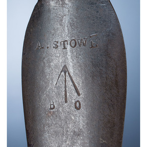 Spontoon Pipe Tomahawk, Marked A. Stowe