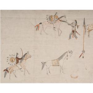 Lakota Painted Muslin Panel