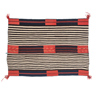 Navajo Second Phase Woman's Chief's Blanket / Rug, From the John Andrews Collection, Native Jackets