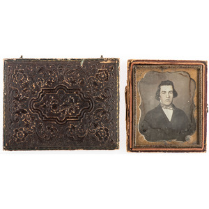 Two Daguerreotypes of Colonel Thomas Burpee, DOW Cold Harbor, Incl. Portrait in Mexican War-Era Uniform