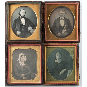 Fifteen Daguerreotypes and Ambrotypes of Well Read Subjects, Including a Half Plate Ambrotype of a Woman