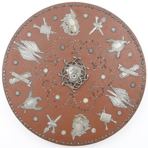 Replica of Silver Mounted Targe Presented to Bonnie Prince Charlie