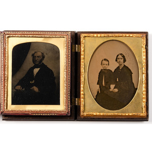 Six Half Plate Ambrotype Portraits, Incl. Image of a Gentleman by William C. North