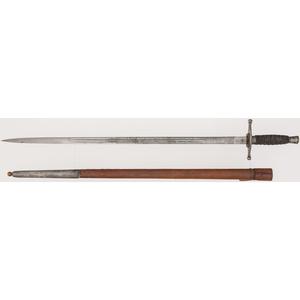 British Highland Officer's Undress Sword of Captain Thomas N.C. Houston, M.C. & Bar, 10th Battalion, Argyll & Sutherland Highlanders