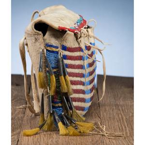 Plains Buffalo Hide Work Bag