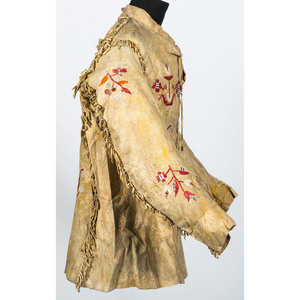 Eastern Sioux Quilled Hide Jacket