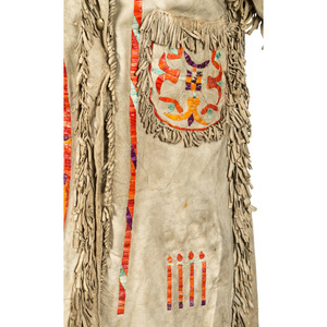 Eastern Sioux Quilled Hide Pictorial Jacket
