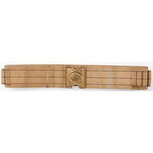 Mills Dog Plate 1905 Cartridge Belt