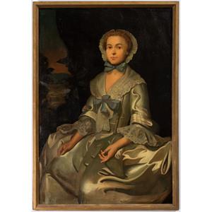 A British Portrait of a Woman with Bonnet