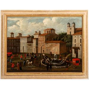 """An Italian """"Piazza"""" Scene"""