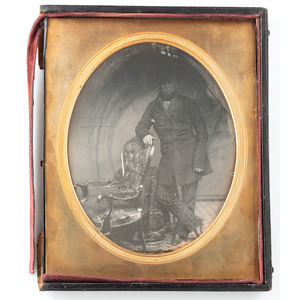 Whole Plate Daguerreotype of Dapper Gentleman Wearing a Top Hat