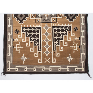 Master Weaver Frances Manuelito (Dine, 20th century) Navajo Two Grey Hills Weaving / Rug, From the John Andrews Collection, Native Jackets