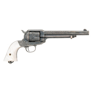 An Attractive Full Silver-Plated and Engraved Remington Model Model 1890 Revolver