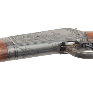 ** A Very Fine and Rare Deluxe Factory Engraved Winchester Model 1886 'Big 50' Lever Action Rifle with Factory Letter